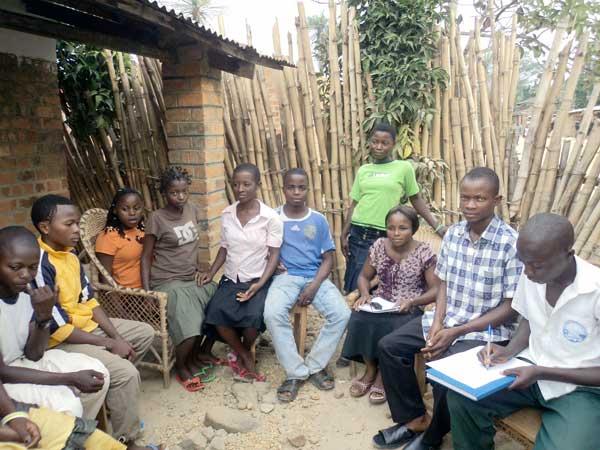 Réunion du club d'enfants de Shabunda